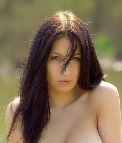 Nude men and woman bare breasts